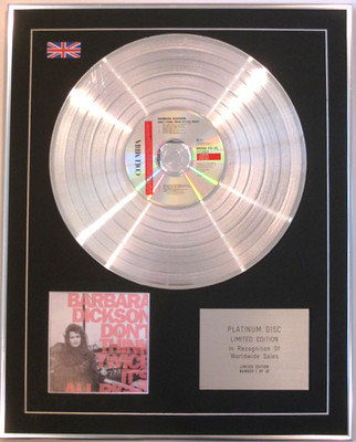 BARBARA DICKSON-Limited Edition CD Platinum Disc-DON'T THINK TWICE IT'S ALRIGHT