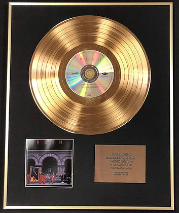 Rush - Exclusive Limited Edition 24 Carat Gold Disc - Moving Pictures