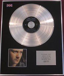 PHIL COLLINS -  Limited EditionCD Platinum Disc - BUT SERIOUSLY