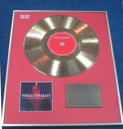 REBECCA FERGUSON - Limited Edition CD 24 Carat Gold Coated LP Disc - FREEDOM
