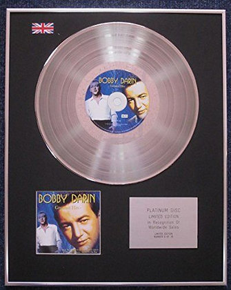Bobby Darin - Limited Edition CD Platinum LP Disc - Greatest Hits