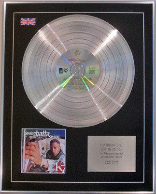 K7 - Limited Edition CD Platinum Disc - SWINGBATTA SWING
