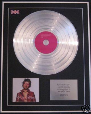 MARY J BLIGE-Ltd Edition CD Platinum Disc-NO MORE DRAMA