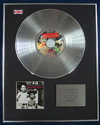 ELVIS COSTELLO - Limited Edition CD Platinum LP Disc - BRUTAL