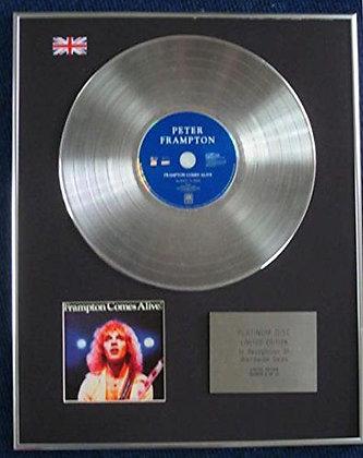 Peter Frampton - Limited Edition CD Platinum LP Disc - Frampton Comes Alive!