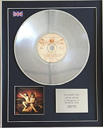 VAN HALEN - Limited Edition CD Platinum Disc - BALANCE