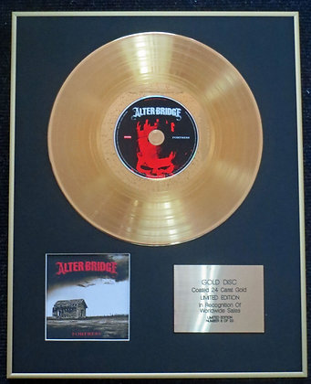 Alter Bridge - Exclusive Limited Edition 24 Carat Gold Disc - Fortress