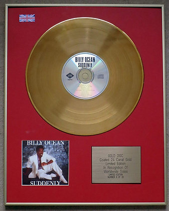 Billy Ocean - Limited Edition CD 24 Carat Gold Coated LP Disc - Suddenly