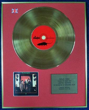 THE STRANGLERS - Ltd Edition CD 24 Carat Coated Gold Disc - RATTUS NORVEGICUS
