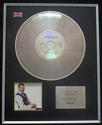 Freddie Mercury - Limited Edition CD Platinum LP Disc - The Freddie Mercury Albu