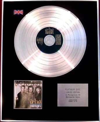A-ha - Platinum Disc- HEADLINES AND DEADLINES,THE HITS OF A-HA