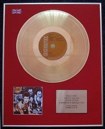 DAVID BOWIE - Limited Edition CD 24 Carat Gold Coated LP Disc - DIAMOND DOGS