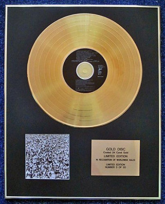 George Michael - 24 Carat Gold Coated LP Disc - Listen Without Prejudice