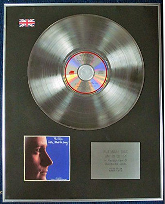 PHIL COLLINS - Ltd Edition CD Platinum Disc - I MUST BE GOING