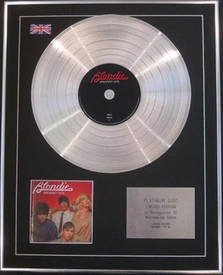 BLONDIE -  Limited Edition CD Platinum Disc - GREATEST HITS
