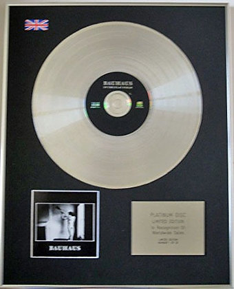 BAUHAUS - Limited Edition CD Platinum Disc - IN THE FLAT FIELD