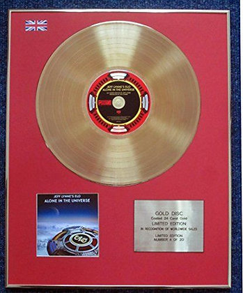 Electric Light Orchestra - CD 24 Carat Gold Coated LP Disc - Alone in…