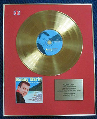 Bobby Darin - Limited Edition CD 24 Carat Gold Coated LP Disc - Dream Lover