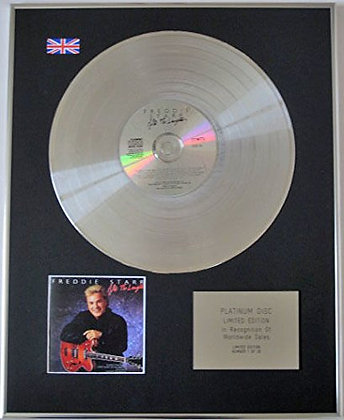FREDDIE STARR - Limited Edition CD Platinum Disc - AFTER THE LAUGHTER