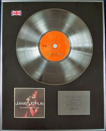JANIS JOPLIN - Limited Edition CD Platinum Disc - THE ULTIMATE COLLECTION