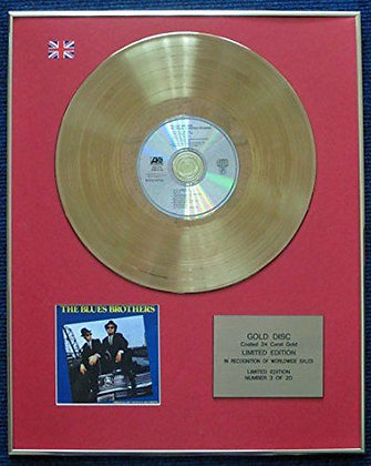 Blue Brothers - LTD Edition CD 24 Carat Gold Coated LP Disc - Soundtrack