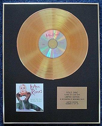 LeAnn Rimes - LTD CD 24 Carat Gold Coated LP Disc - Sittin' on Top…