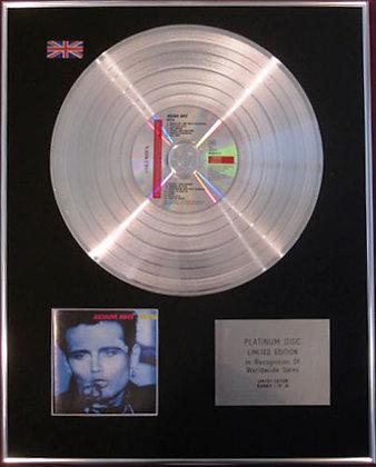 ADAM ANT - CD Platinum Disc - HITS