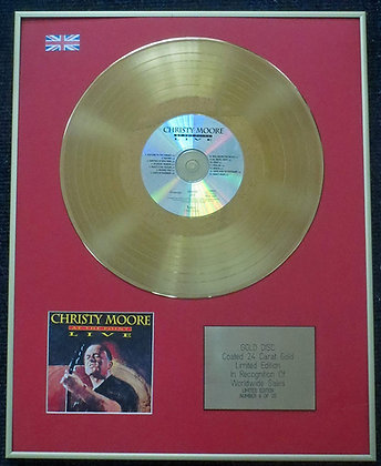 Christy Moore - Limited Edition CD 24 Carat Gold Coated LP Disc Live at the Poin