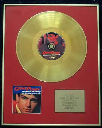 Gene Pitney - Limited Edition CD 24 Carat Gold Coated LP Disc - I'm Gonna Be Str
