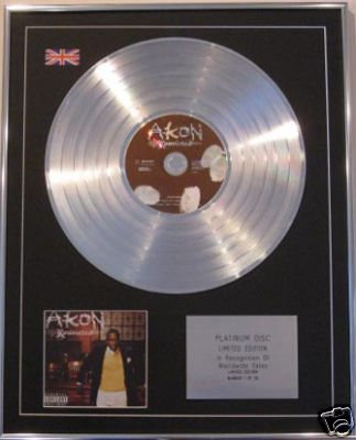 AKON   - Ltd Edt CD Platinum Disc- KONVICTED
