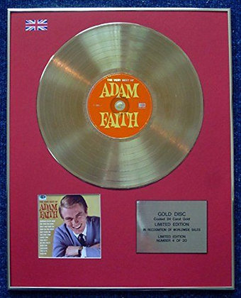 Adam Faith - Limited Edition CD 24 Carat Gold Coated LP Disc - The Very Best of
