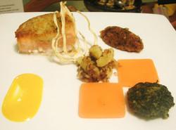 Salmon and Spaetzle