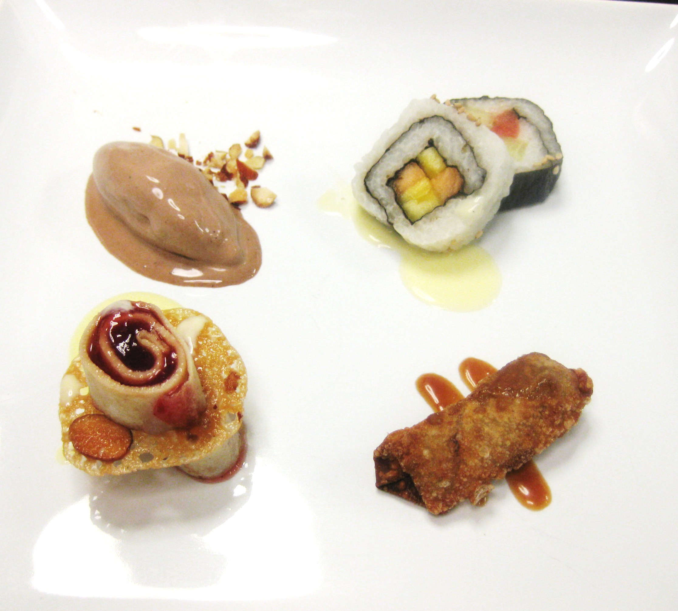 Asian Inspired Dessert Quartet