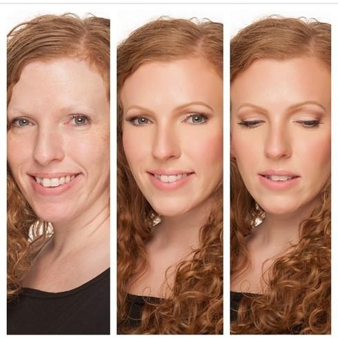 Natural makeup for model