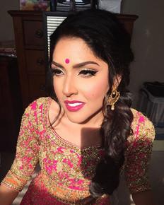 Sangeet wedding makeup