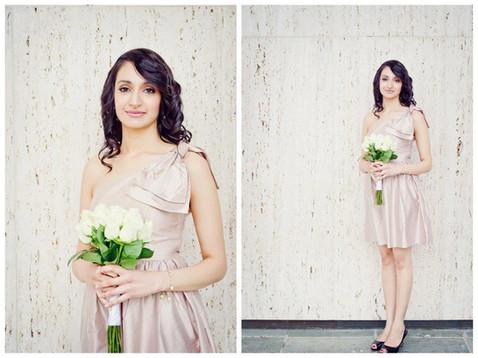 Elegant bridesmaid