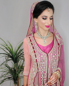 Pink desi bride