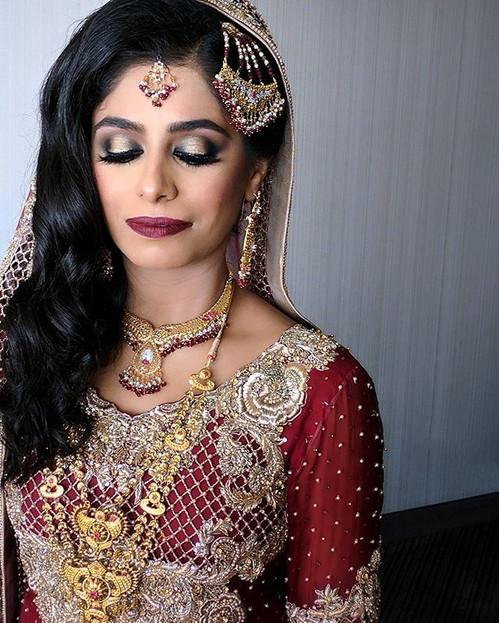 Baraat bridal makeup and hair