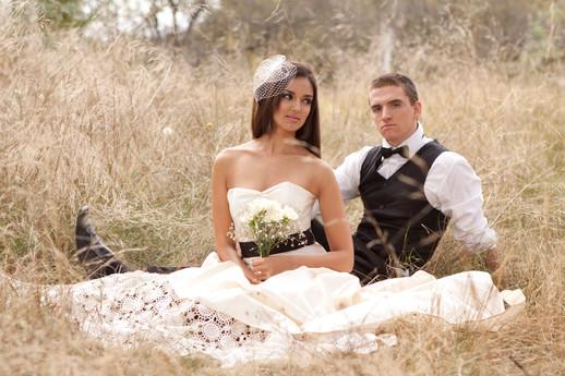 Shot of the subtle glam bride