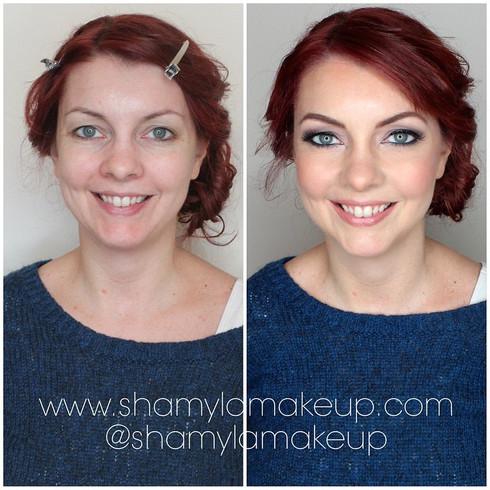 Boudoir makeup for her wedding here.