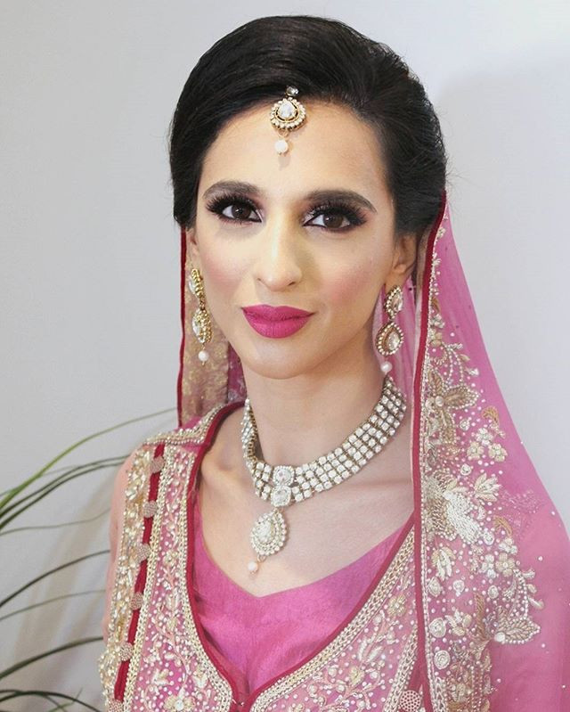 Fadilah, Nikkah makeup for Pakistani bride in London Ontario.