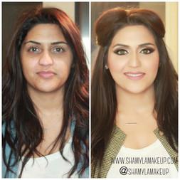 Dramatic Pakistani bridal makeup