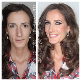 Natural glam for her wedding makeup