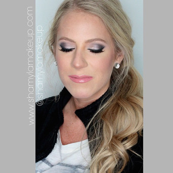A bridal trial for one of my ever so patient bride-to-be! Thank you for putting up with my lost state! Ms. Megan here came with no photos and said 'I want an all glam look and do whatever you feel best!' Well here I have her in black smokeyeyes, shimmer on the inner corners and flushed cheeks! Can't WAIT to see her on her wedding day.