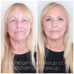 Mature aged bridal makeup