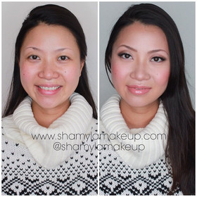 Monolids asian eye makeup look