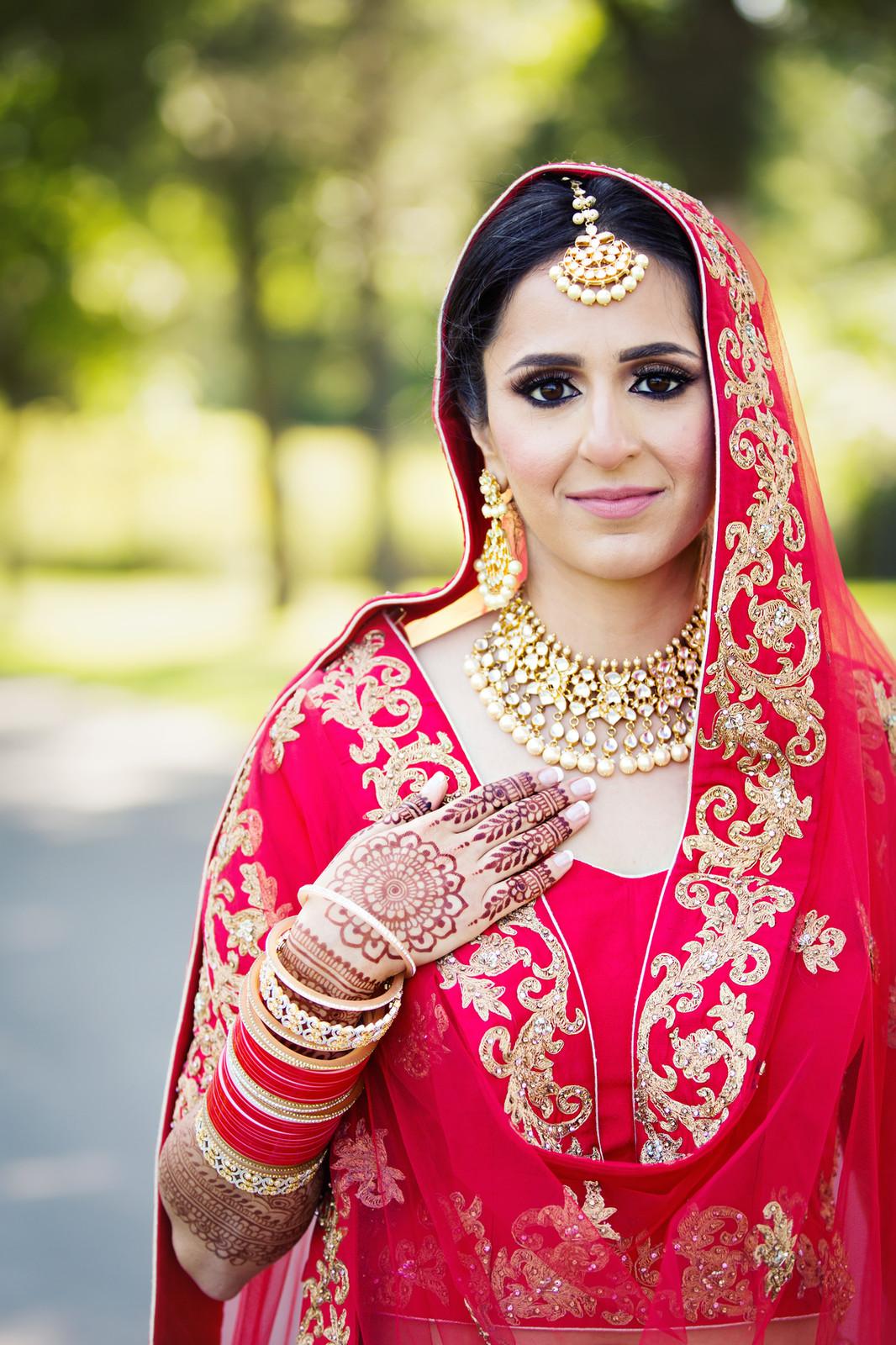 Indian bride, London Ontario. Pakistani makeup, hair and styling