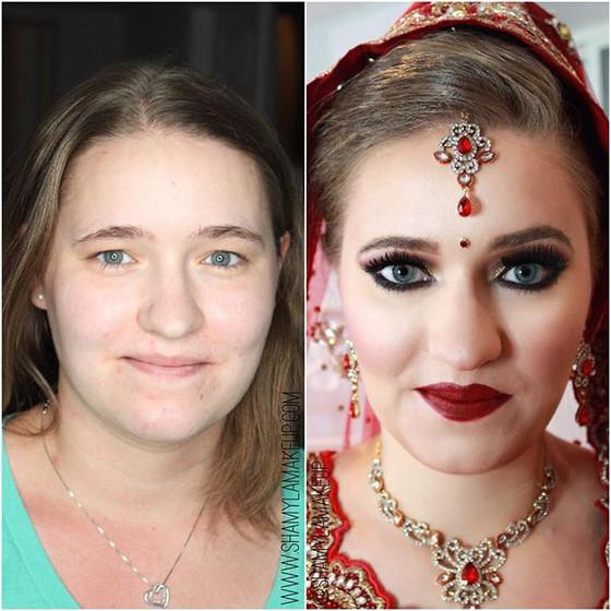White desi bride for her Sikh ceremony