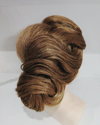 S-Wave pattern updo hairstyling