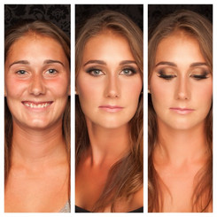 Natural to glamour bridal makeup